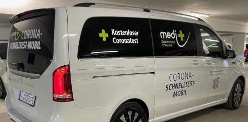 Corona-Schnelltest-Mobil medi plus - Foto: medi+